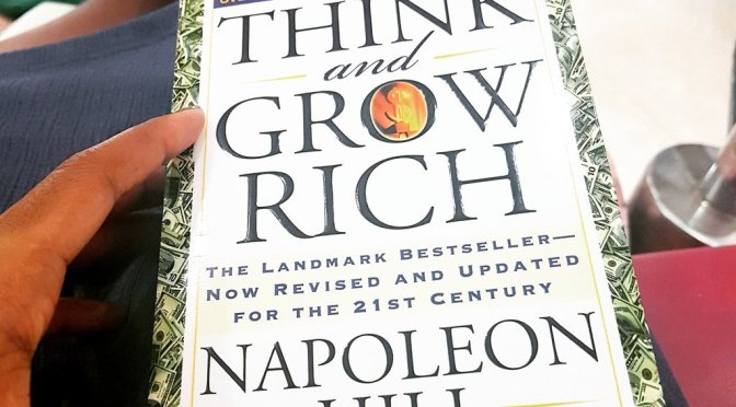 """Hill shows us how """"our only limitations are those we set up in our own minds"""" in his widely applauded book – 'Think and Grow Rich'"""